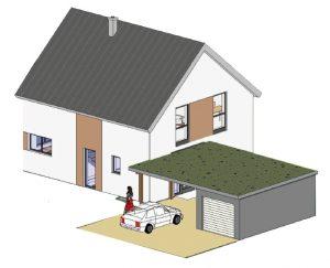 Energieeffizientes Einfamilienhaus Typ 21